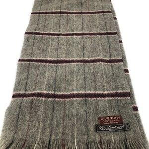 Givenchy Gentleman Lambswool Plaid Plaid Scarf